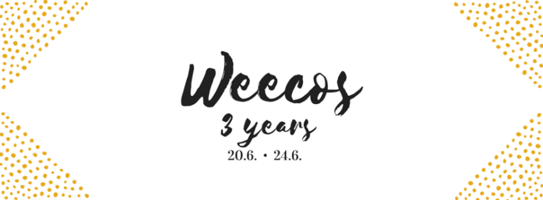 Weecos 3years cover photo white